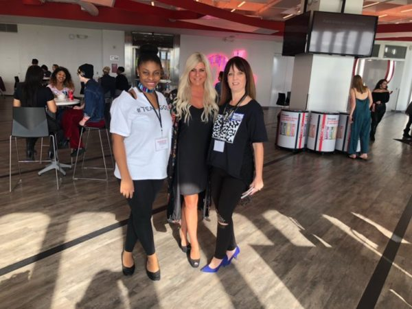 Lifestyle blogger Shannon Lazovski and fashion designer Cheryl Zemke attend FashionSpeak2018.