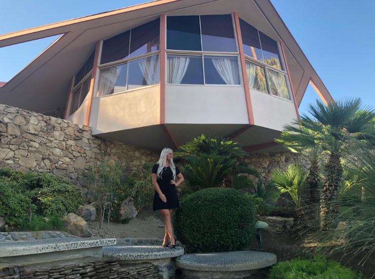 Shannon Lazovski at Elvis Honeymoon Home in Palm Springs